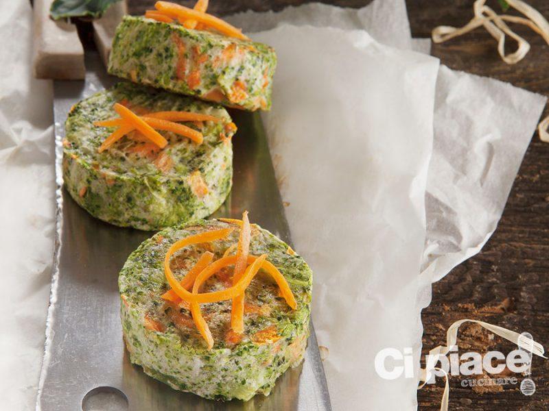 Flan di formaggio carote e bietoline