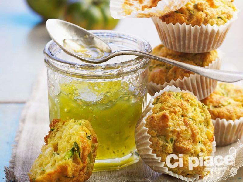 Muffin con caprino e gelatina