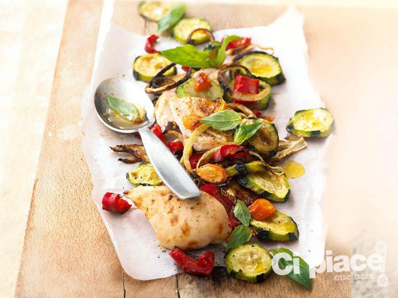 Pollo e zucchine gratinate