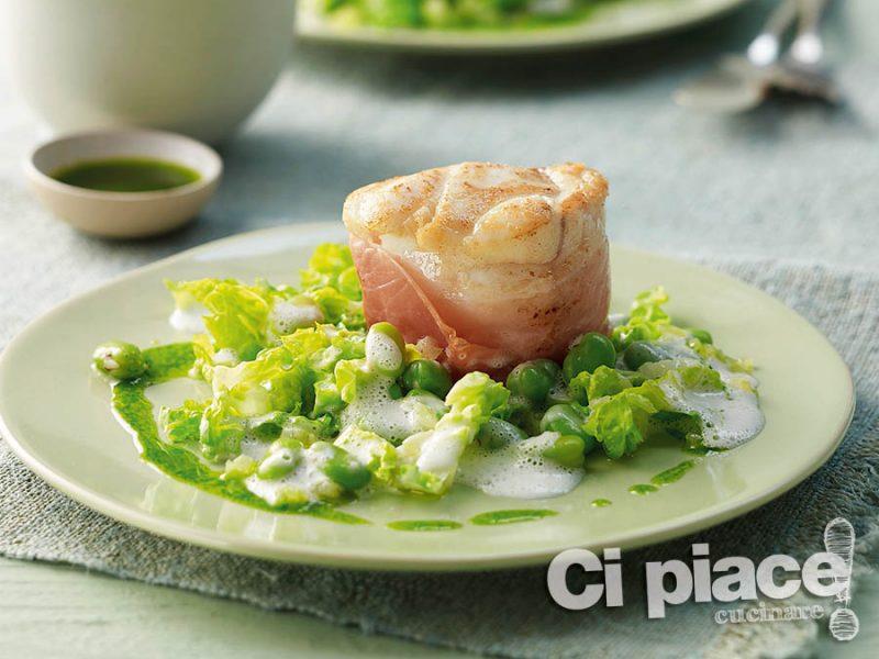 Tournedos di rana pescatrice con fagioli verdi