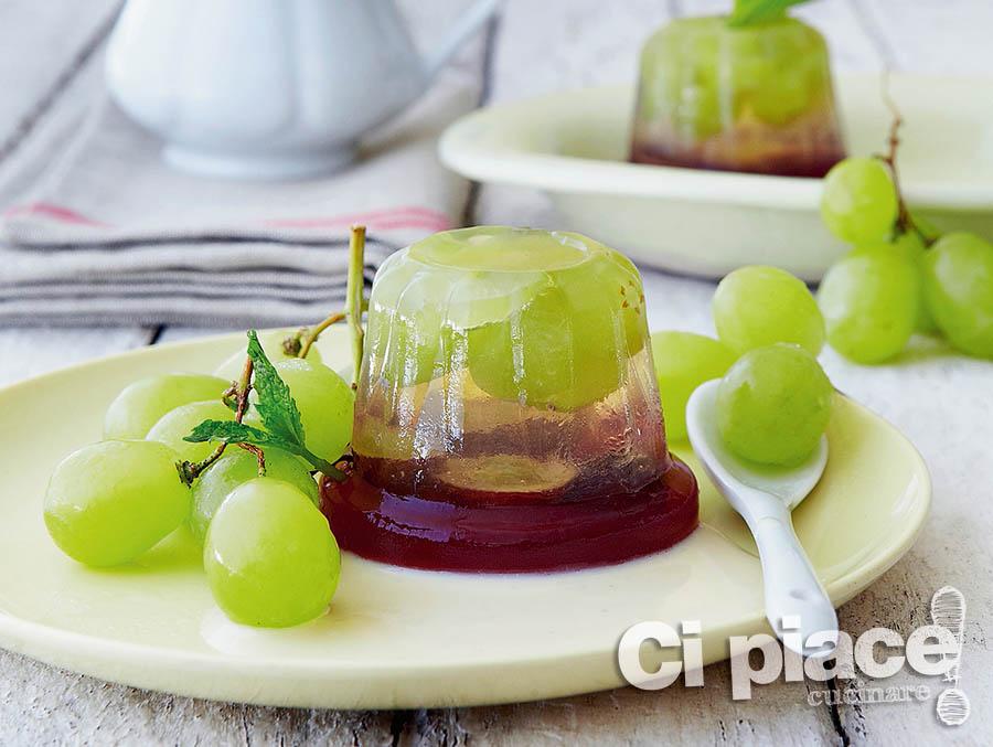 Gelatina di uva stratificata