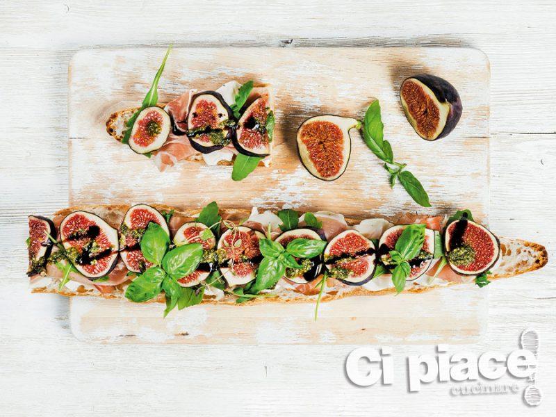 Baguette con fichi all'aceto balsamico