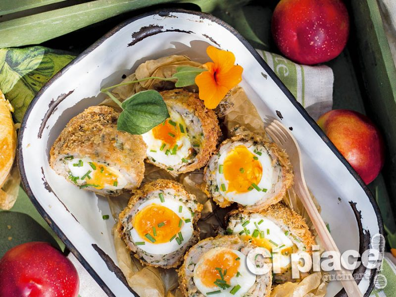 Uova in polpette di pesce