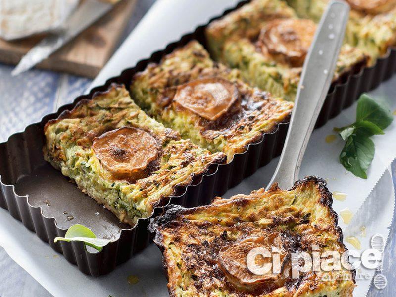 Tortino di zucchine e formaggio di capra