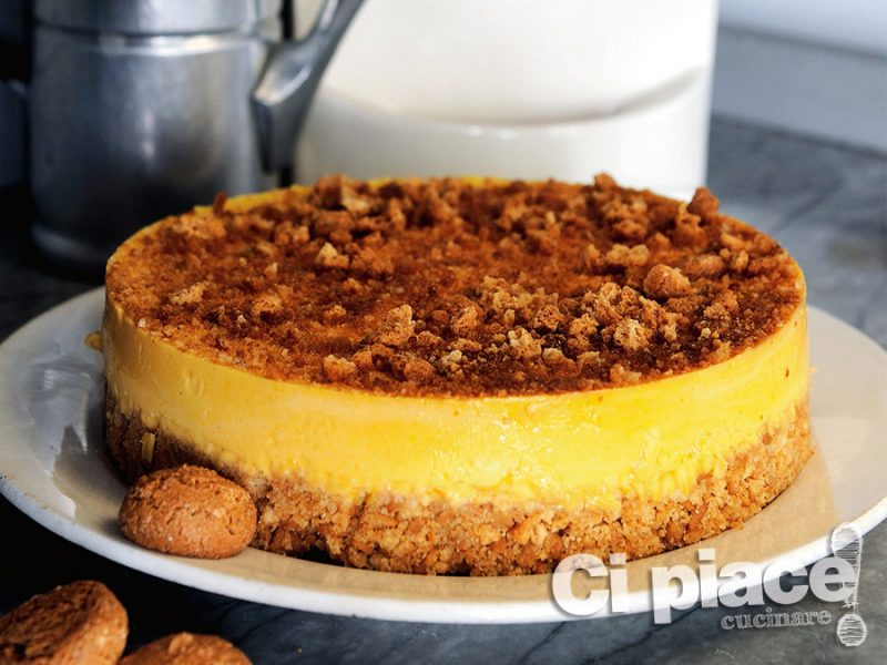 Cheesecake di zucca e amaretti