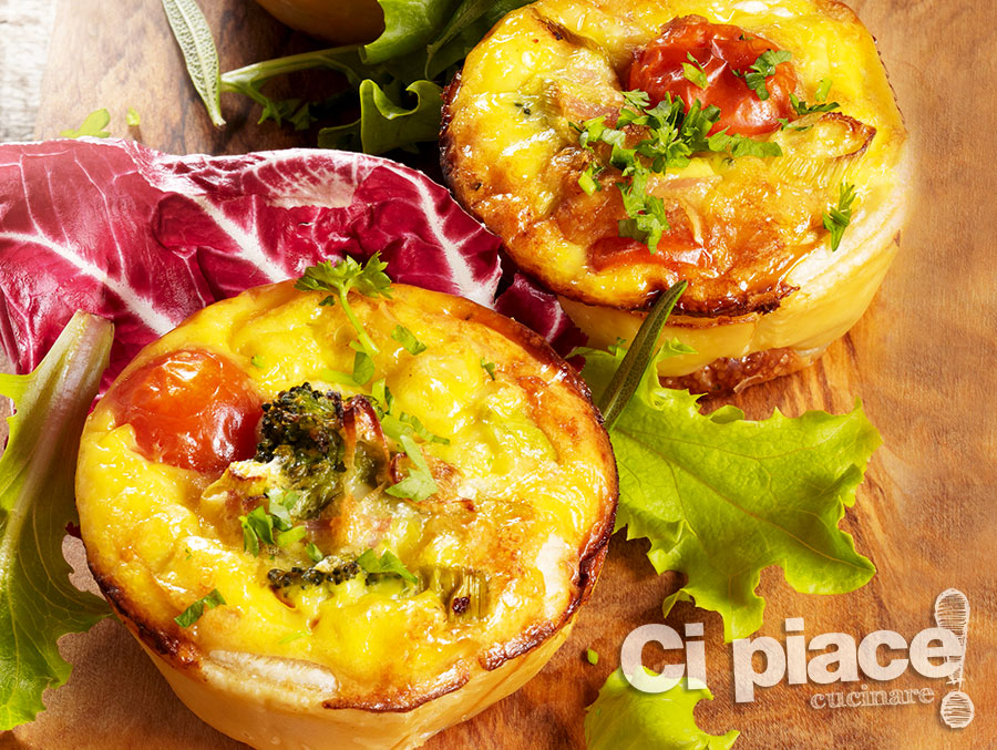 Mini quiche vegetariane