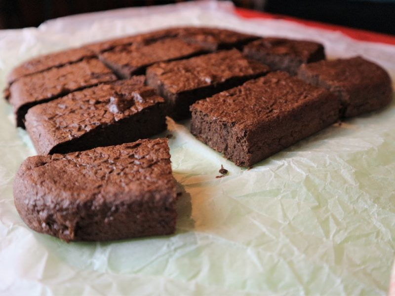 Brownies di fagioli al cacao, senza zucchero