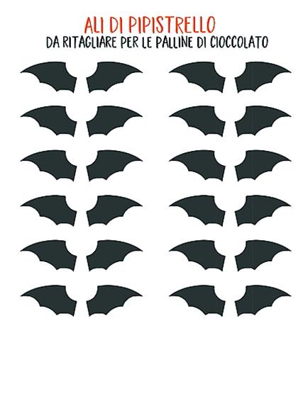 Le decorazioni per halloween ci piace cucinare - Contorno immagine di pipistrello ...
